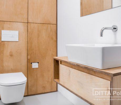 Łazienka ze sklejki